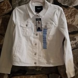 NWT Nine West White Sarah Jean Jacket Lg & XXL